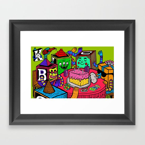 """Block Party"" by Steven Fiche Framed Art Print"