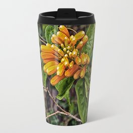 Beautiful buds of orange trumpet flower Travel Mug