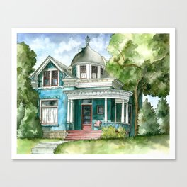 The House with Red Trim Canvas Print