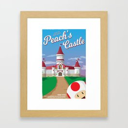 Peach's Castle (Super Mario) Travel Poster Framed Art Print