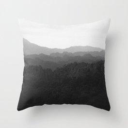 Laos Mountains Throw Pillow