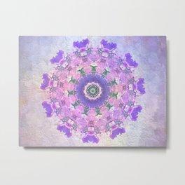 Circle of Flowers Metal Print