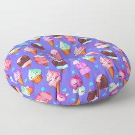 Popsicles and Ice Cream - Purple Floor Pillow