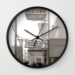 Midtown Liquors Tucson Vintage Neon Sign Wall Clock