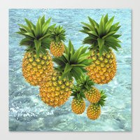 pineapples Canvas Prints featuring Pineapples by Erika Kaisersot