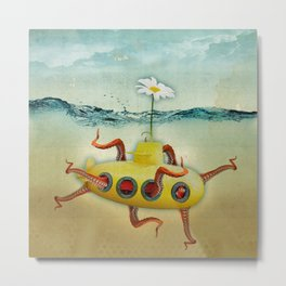 octopus submarine Metal Print