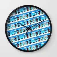 dmmd Wall Clocks featuring DMMD chibi by mao00mao & darkson