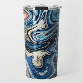 Calcite Marble Opal stone Travel Mug