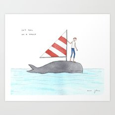set sail on a whale Art Print