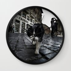 Street Cat Wall Clock