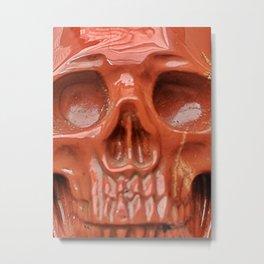 Red Jasper Skull Metal Print