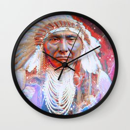 Crazy Horse Wall Clock