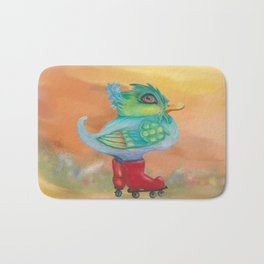 a skating snozzleberryduck day in autumn Bath Mat