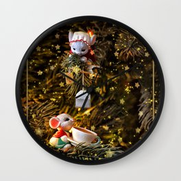 Tea For Two Mice Wall Clock