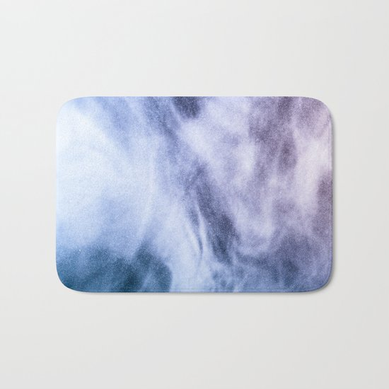 Blue and purple abstract heavenly clouds Bath Mat