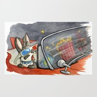 jackalope Area & Throw Rugs featuring June Jackalope by JoJo Seames