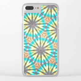 Twelve-Pointed Diagonal Stars Clear iPhone Case