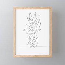 One Line Pineapple Framed Mini Art Print