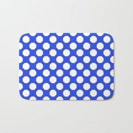 Royal Blue Octagon Pattern Bath Mat