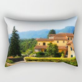 Sunny day in  Barga Rectangular Pillow
