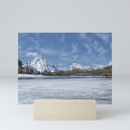Grand Tetons and Snake River from Oxbow Bend Mini Art Print