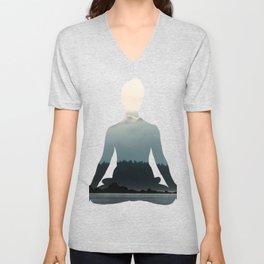 Nature Meditation Photography Print Unisex V-Neck