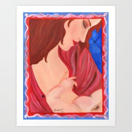 The Bond, Mother Nursing Newborn Art Print