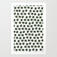 cannabis Art Prints featuring Cannabis by WeedPornDaily
