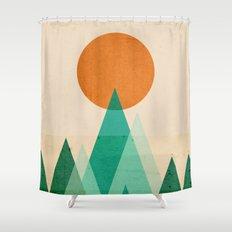 No mountains high enough Shower Curtain
