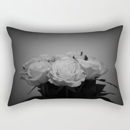Black and White Roses (5) Rectangular Pillow