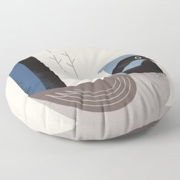 Superb Fairywren, Bird of Australia Floor Pillow