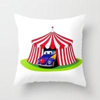 clown Throw Pillows featuring Clown by Maestral