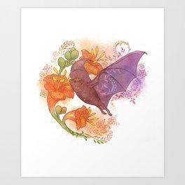 Pollinator Animals- Bat Art Print