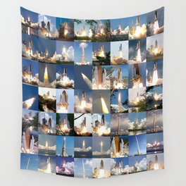 Shuttle Montage Wall Tapestry
