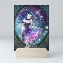 Ethereal keeper of worlds Mini Art Print