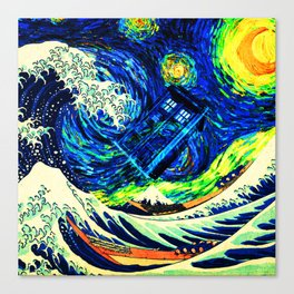 tardis starry night Canvas Print