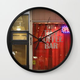 The Tiny Coffee Bar Wall Clock