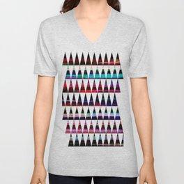 happy colored triangles Unisex V-Neck
