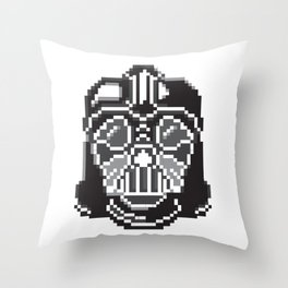 Darth Vader pixel art Throw Pillow