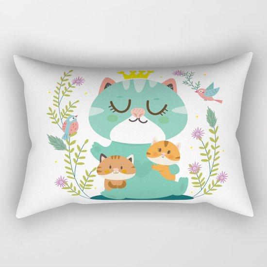 Queen cat Rectangular Pillow