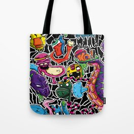 Doodle Monsters Tote Bag