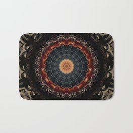 Vintage Bronze Mandala Badematte