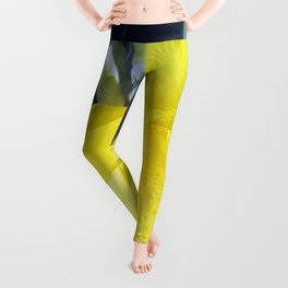 Yellow Canna Lily Flower Leggings