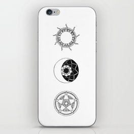 Sun, Moon and Star Mandalas iPhone Skin