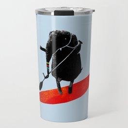 Elephant Paddle Boarding on the Ocean Travel Mug