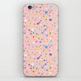 Postmodern Granite Terrazzo Large Scale in Pink Multi iPhone Skin