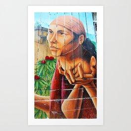 San Francisco Street Mural Art Print