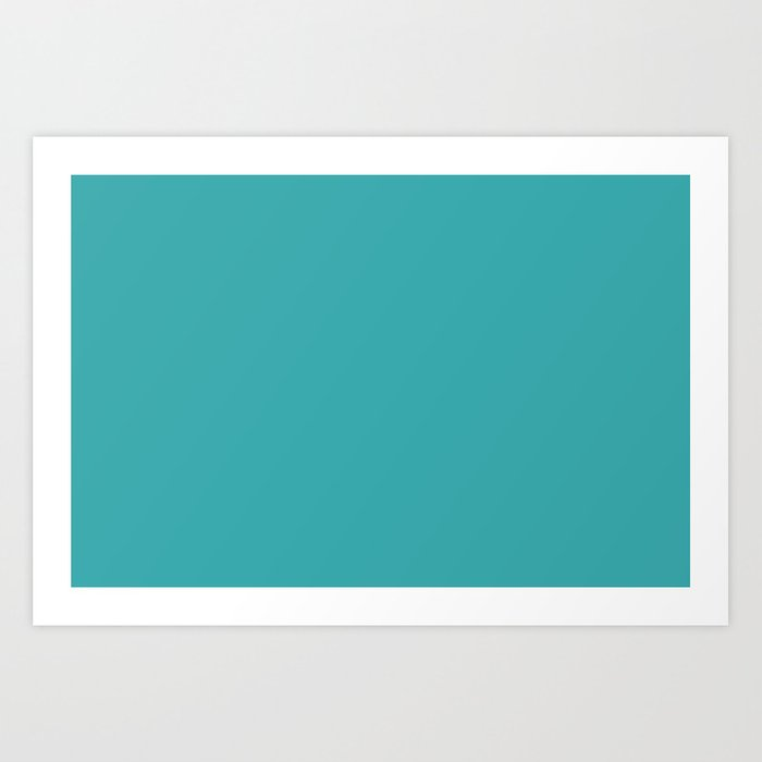 Aqua Teal Turquoise Solid Color Pairs With Sherwin Williams 2020 Trending Aquarium Sw6767 Art Print By Simplysolids