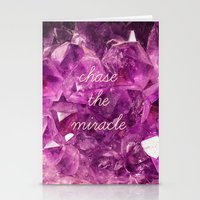 minerals Stationery Cards featuring chase the miracle on minerals by mb13