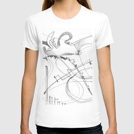 paradise in pencil T-shirt